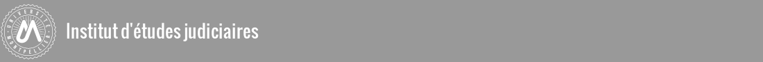 Institut d'études judiciaires Logo